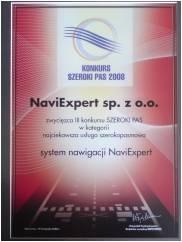 NaviExpert zwycięzcą konkursu w kategorii najciekawsza usługa szerokopasmowa
